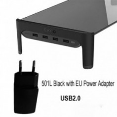 Desktop Monitor Notebook Laptop Stand Space Bar Non-slip Desk Riser with 4ports USB Hub Data Transmission and Fast Charger 501L