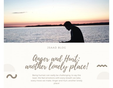 Anger and Hurt, another lonely place!